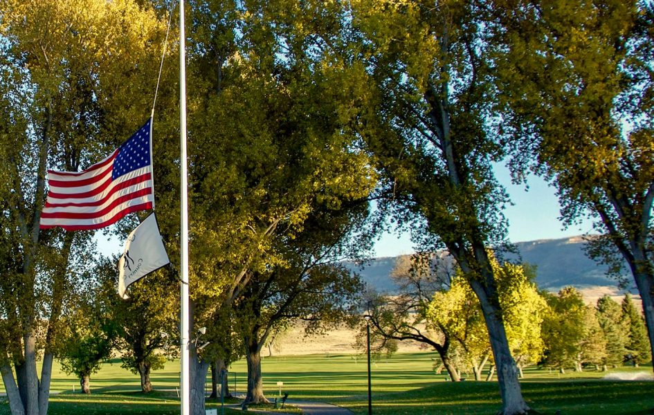 american flag on casper country club course