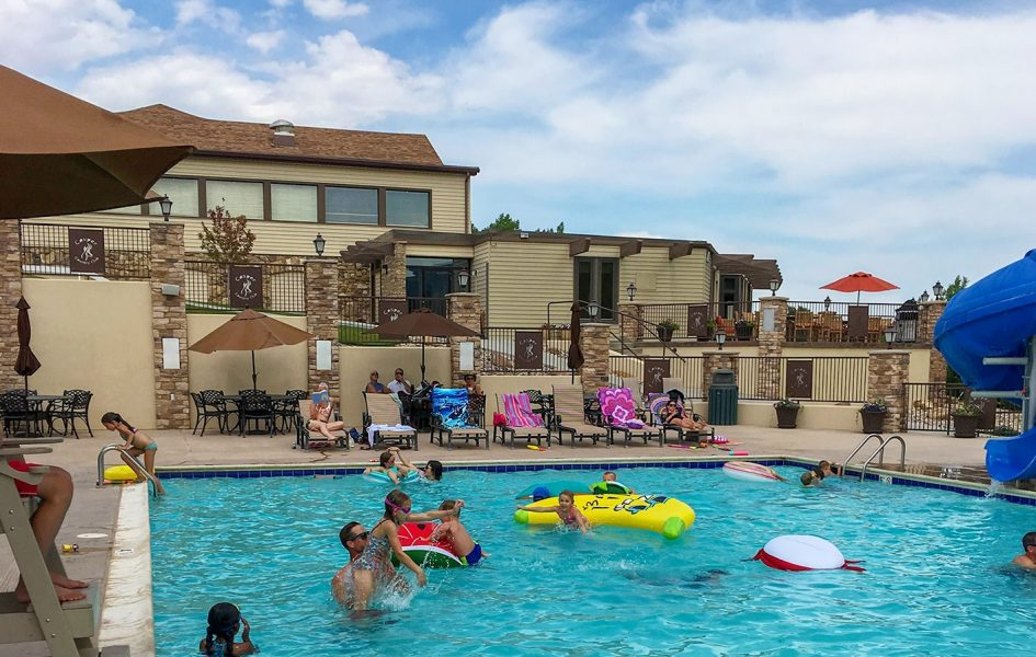families at casper country club pool
