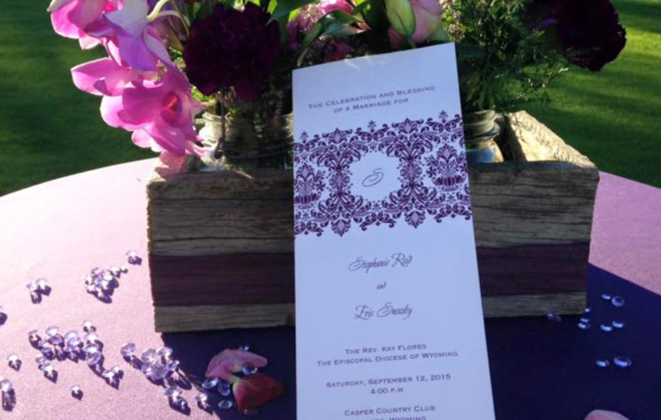 ceremony booklet for casper country club wedding