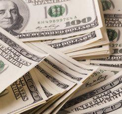 close up of hundred dollar bills