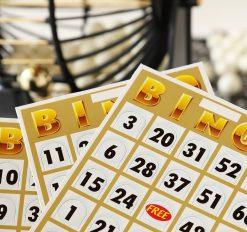 close up of bingo cards