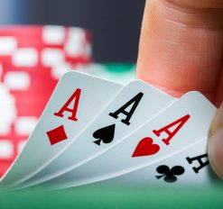 close up of poker cards