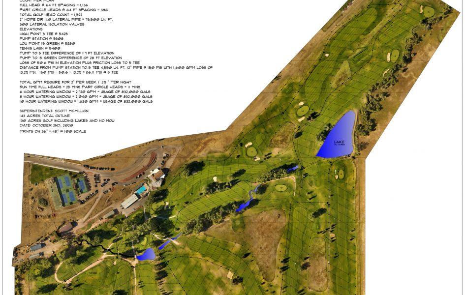 casper country club irrigation update plans